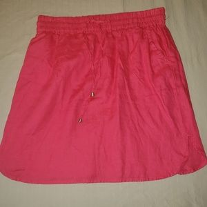 Coral 100%Linen Skirt Size S